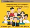 Câmara municipal parabeniza a todos Servidores  Publico municipal